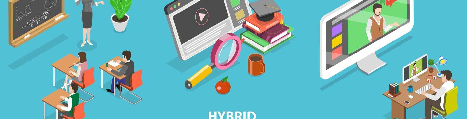 Hybrid Working, remote working concept